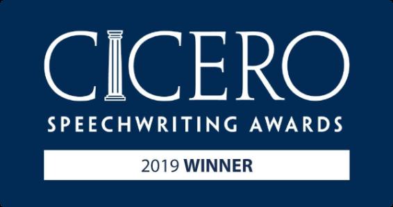 2019 CICERO speechwriting awards